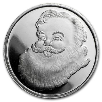 1/2 oz Silver Round - Santa - Believe In The Magic