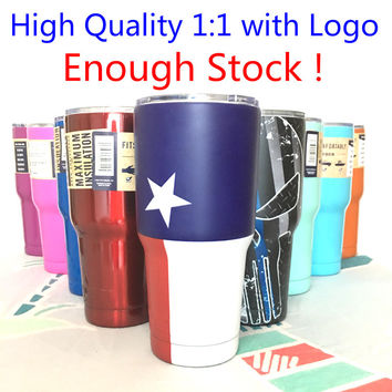 2017 new Cup 30oz 20oz Rambler Tumbler Cooler Cup Vacuum Insulated Stainless Steel Tumbler Mug Cup for Dropship