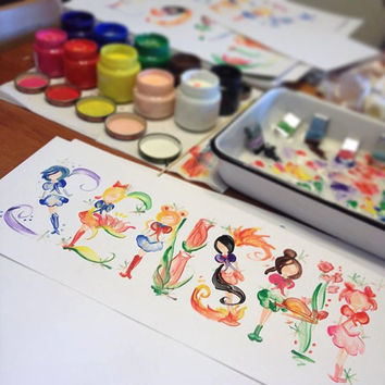 Custom Name Painting: Sailor Moon Scouts