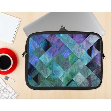 The Multicolored Tile-Swirled Pattern Ink-Fuzed NeoPrene MacBook Laptop Sleeve