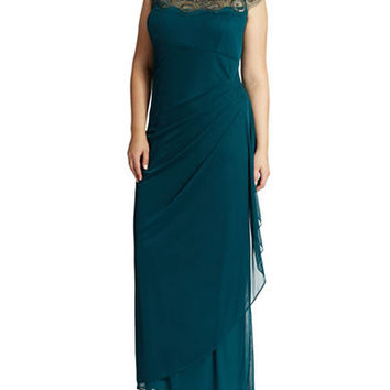 Xscape Plus Ruched Gown