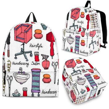 Hair Stylist Backpack Cosmetologist Book Bag