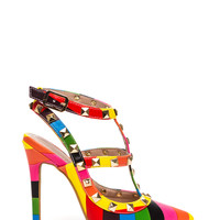 Color Queen Studded Stiletto Heels