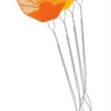 Pic® WIRE Fly Swatter, Assorted Colors, Plastic Head with Metal Handle
