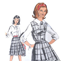 1960s Sew-Easy Advance Teen Dress Pattern 2964 Size 16