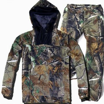 Army Military camouflage Suit Outdoor Hunting Clothes Tactical Ghillie Suit Set Jacket+pants