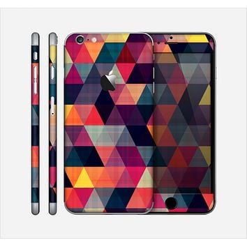 The Triangular Abstract Vibrant Colored Pattern Skin for the Apple iPhone 6 Plus