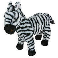 "11"" Zebra Stuffed Animal Plush Floppy Zoo Species Collection"