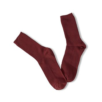 Solid Ankle Socks - Burgundy