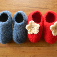 Crochet Pattern PDF for Felted Crochet Children Slippers, Felted crochet Slipper pattern, size 12-18m