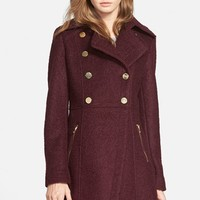 Women's GUESS Double Breasted Boucle Cutaway Coat,