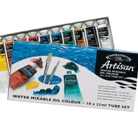 Winsor & Newton Artisan Water Mixable Oil Color 10-Tube Set, 21ml