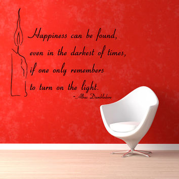 Candle Wall Decals Quote Happiness Can Be Found Family Words Vinyl Decal Sticker Living Room Interior Design Home Art Mural Decor KG386