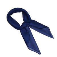 Royal Blue Retro Chiffon Scarves