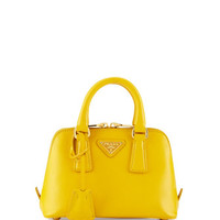 Prada Mini Saffiano Promenade Bag, Yellow (Soleil)