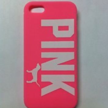 Victoria's Secret Pink Iphone 5 Case Soft Case Pink