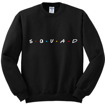 "Friends TV Show F.R.I.E.N.D.S Inspired ""Squad"" Crewneck Sweatshirt"