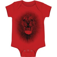 Santana Boys' Red Lion - Baby Bodysuit Red