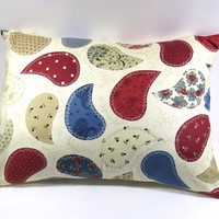 Paisley Pillow Cover with 12 x 16 pillow form; Accent pillow/decorative pillow cover with envelope closure - Pillow form INCLUDED