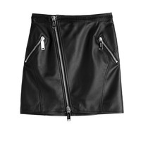 Dsquared2 - Leather Mini Skirt