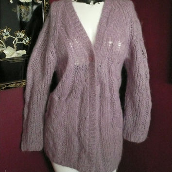Vintage Lavender Mohair Sweater Made in Italy