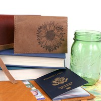 Sunflower Leather Passport Cover *Free Customization!*