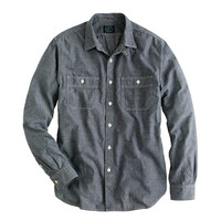 J.Crew Mens Grey Chambray Utility Shirt