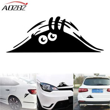 "AOZBZ Car-styling Car Sticker Funny Peeking Decals Cool Window Wall Sticker Accessories 7.5*2.8"" Waterproof Car Styling"
