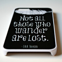 Lord of the Rings iPhone Case Black  Quote by NeverMorePrints