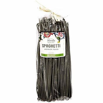 Marella Organic Squid Ink Spaghetti 17.6 oz. (500g)