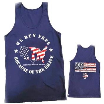 Run for the Heroes 5K/10K Racerback TankTop Only **NO MEDAL**