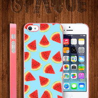Watermelon blue Apple iPhone 5 5s & 4 4s Durable Hard Case - In Multiple Colours - Hipster Indie Grunge Vintage Tropical Summer Tumblr