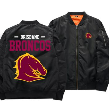 [50% OFF !!] EXCLUSIVE BRISBANE BRONCOS BOMBER JACKET - FREE SHIPPING