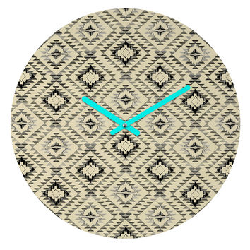 Pattern State Tile Tribe Round Clock