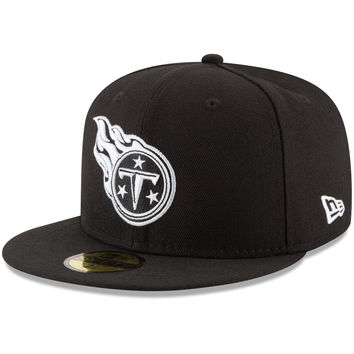 Men's Tennessee Titans New Era Black B-Dub 59FIFTY Fitted Hat