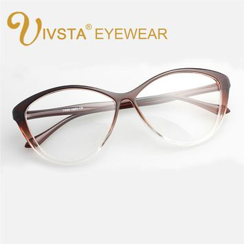 IVSTA 5865 Flexible TR90 Plastic Titanium Cat eye glasses women Optical Frame Cats Prescription Butterfly big eyeglasses vintage
