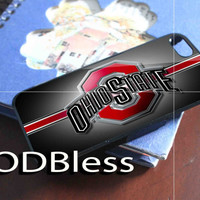 Ohio State NFL Baseball Design for iPhone 4/4s/5/5s/5c Case, Samsung Galaxy S3/S4 Case