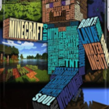 Minecraft Steve Typograpghy iPhone Cases & Skins