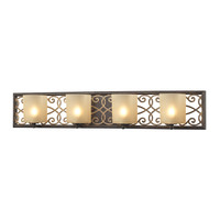 ELK Santa Monica 4 Light Vanity In Weatbered Bronze/gold highlights - 31439/4
