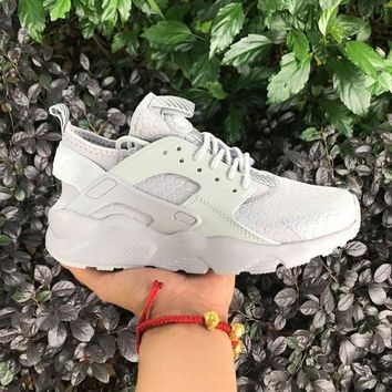 DCCKU62 Sale Nike Air Huarache 4 Rainbow Ultra Breathe Men Women Hurache White Running Sport Casual Shoes Sneakers - 108-1
