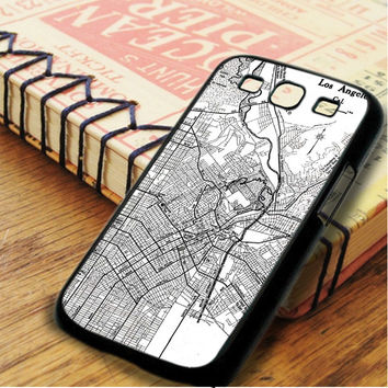 Vintage Map Los Angeles Samsung Galaxy S3 Case