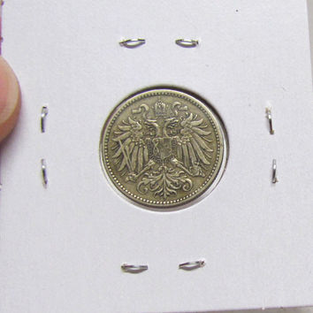 Vintage Coin, Austria - Austrian, 10 Heller, 1915 (You Grade) ( In 2X2 Holder)