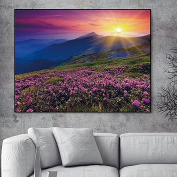 Wall poster painting Canvas Painting Pictures abstract painting art  prints Lavender on canvas home decoration for living room