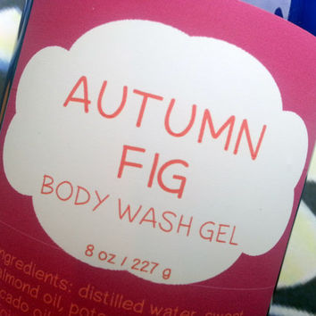 Autumn Fig Body Wash Gel ~ Shower Gel ~ Liquid Body Soap ~ Body Shampoo