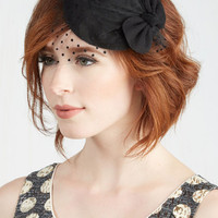 Vintage Inspired Sweetest Spread Fascinator in Black by ModCloth