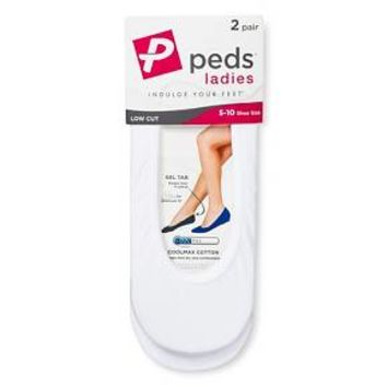 Peds Women's Coolmax Liner 2-Pack - M