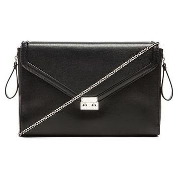BCBGeneration Sorry I'm Late Clutch in Black