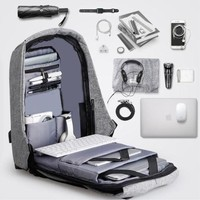 16Inches  Antitheft External USB Charging Backpack