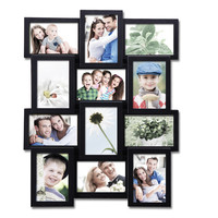 Decorative Black Plastic Wall Hanging Collage Picture Photo Frame