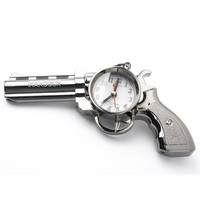 Novelty Pistol Gun Shape Alarm Clock Desk Table Home Office Decor Gifts
